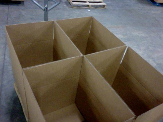 Empty NanoDays shipping boxes