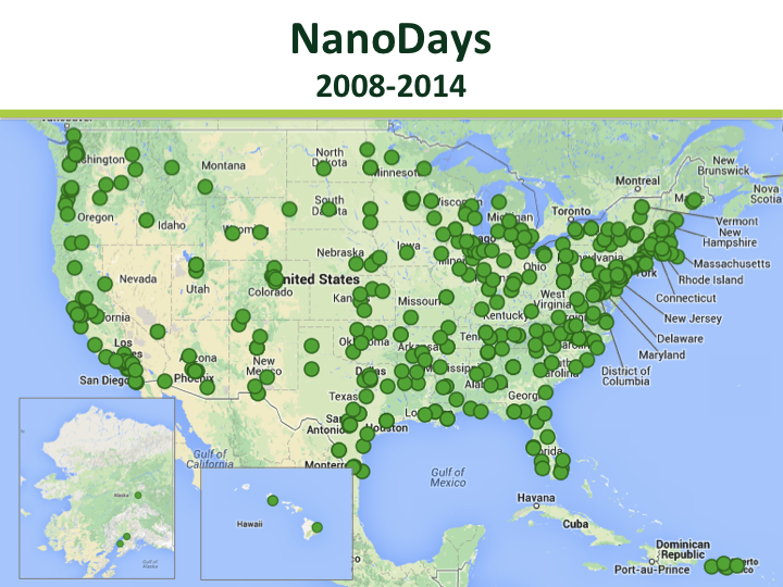 NanoDays kit map 2008-2013