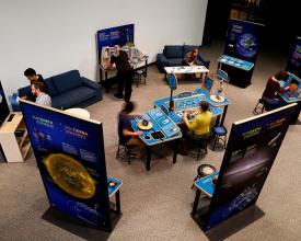 Sun Earth Universe exhibition February 2018 with people