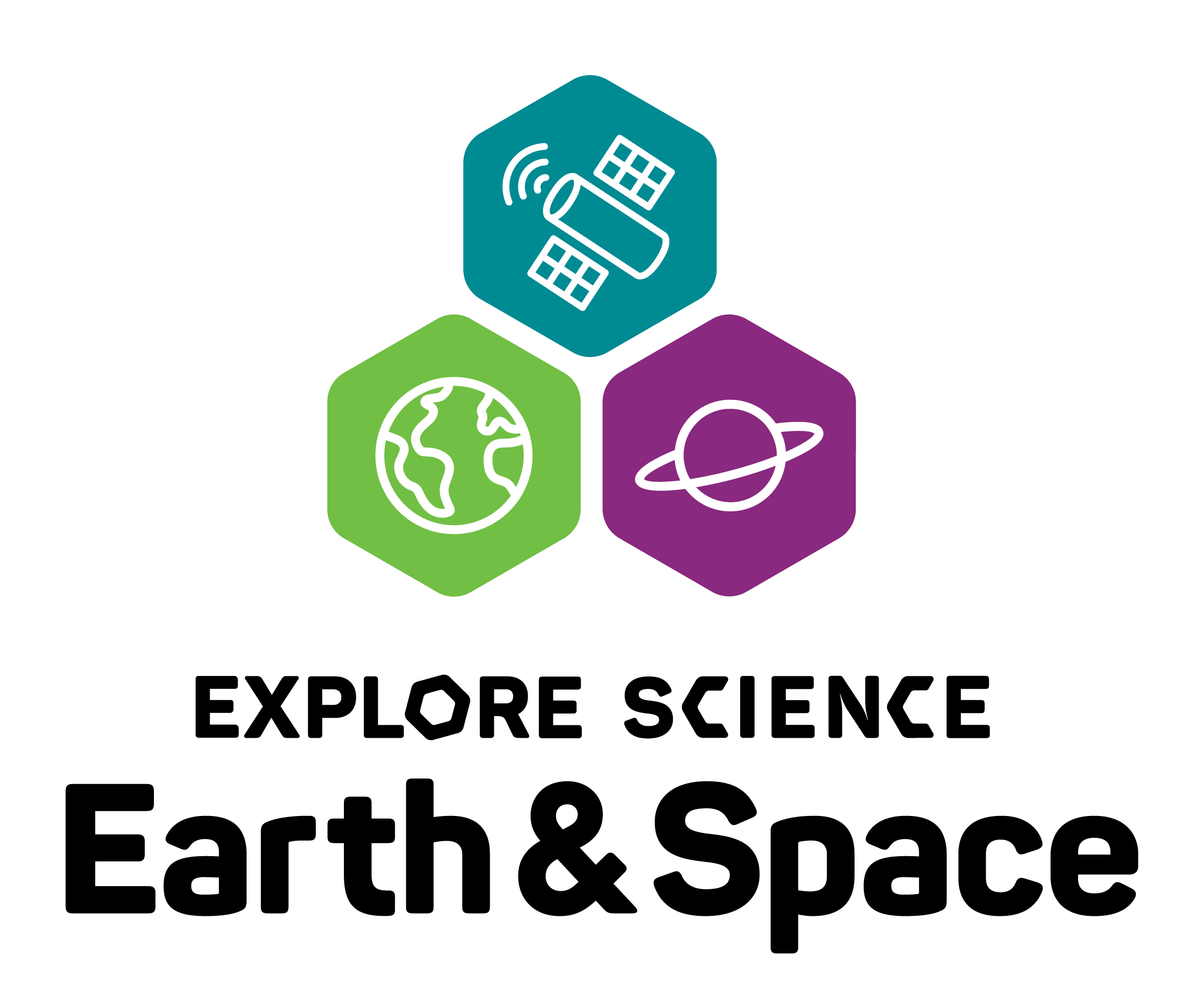 Earth & Space logo vertical